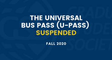 The U-Pass has been suspended for fall 2020
