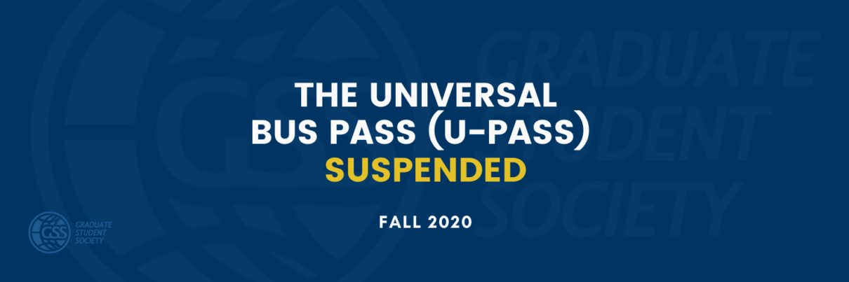 U-Pass Suspended For Fall 2020