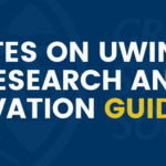 Updates on UWindsor Research and Innovation Guidance
