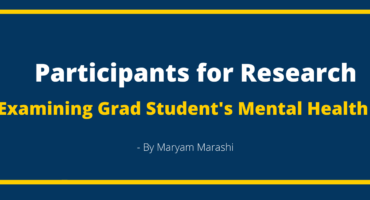 Participants for Research Examining Grad Student's Mental Health